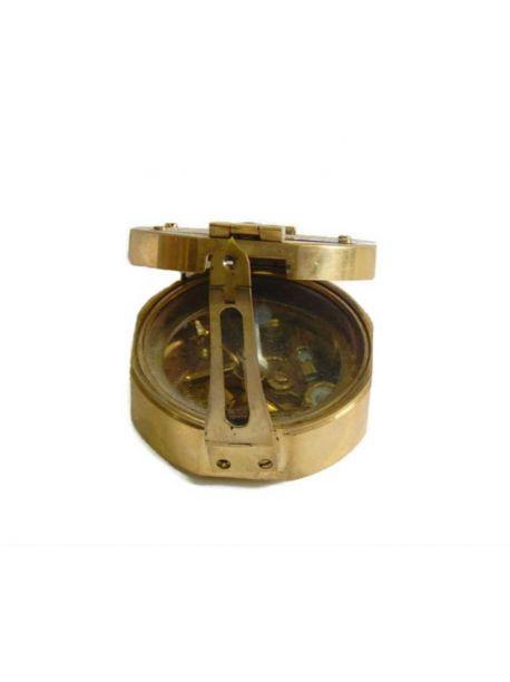 3.5 inches Nautical Maritime Brass Brunton Compass Collectible Decor