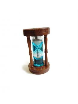 Nautical Maritime 5 Minute Sheesham Wood Hourglass Sand Timer