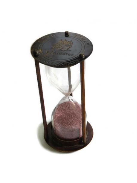 Nautical Maritime Brass Sand Timer Antique Vintage Hourglass Collectible