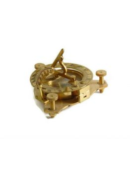 Nautical Vintage Brass Pocket Sundial Compass 3 Inch Collectible