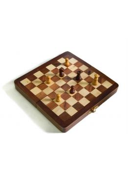 Indian Walnut Style Magnetized Staunton Wood Chessmen Chess Set 7 inches