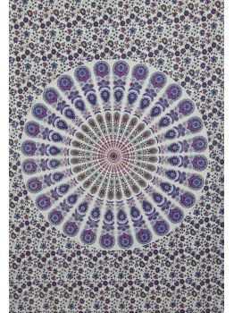 Handmade Indian Tapestry Mandala Wall Hanging Queen Bedspread Ethnic Wall Art
