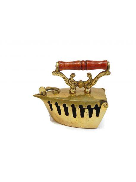 Vintage Brass Decorative charcoal Iron -  -