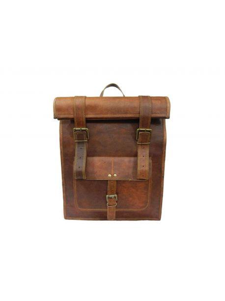 BARCAO Vintage Leather Backpack Handbag -  -