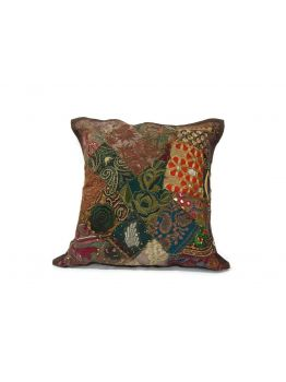 Couch Cushion Covers Hand Block Gold Print Set