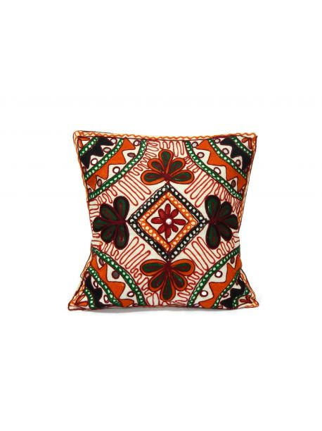 Embroidered Cushion Covers Mirror Lace Work Set
