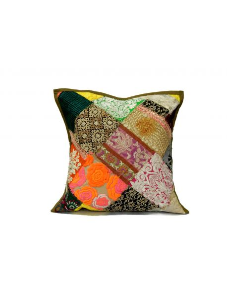 India Cushion Covers Hand Embroidered set