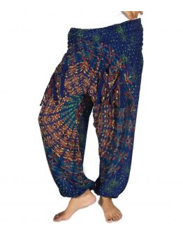 One Effort Of Yours Can Change the World Blue Harem Pants