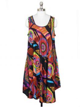 Pent Top Flowy Beach Dress -  -
