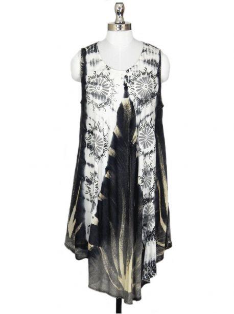 Vesper Sleeveless Tie Dye Dress -  -