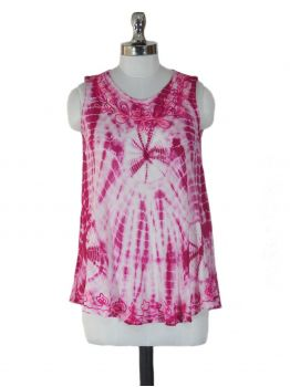Goarji Pink Sleeveless Top