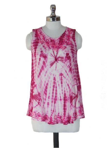 Goarji Pink Sleeveless Top -  -