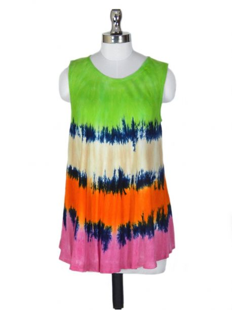 Tribal Embroidered Tank Top -  -