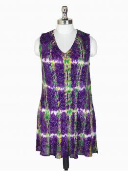 Batik Tie Dye Tank Top