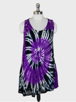 Roma Purple Sleeveless Top