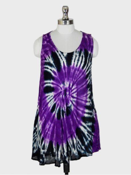 Roma Purple Sleeveless Top -  -