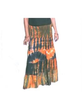 Live Happily Like the Last Day Tie Dye Skirts