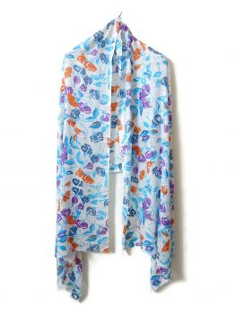 Elentra Cotton Scarves With Firnge