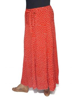 Red Mike polka dot long skirt