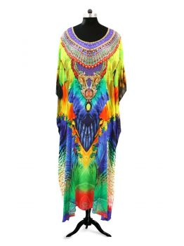 Miling Fancy Round Neck Kaftan Dress