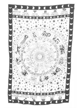 Zodiac Hippie Wall Hanging Tapestry Throw Bedspread Décor