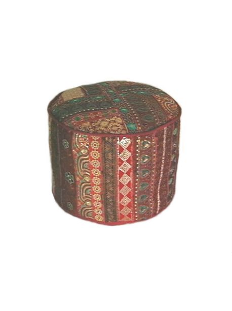 Embroidered Indian Style Ottoman