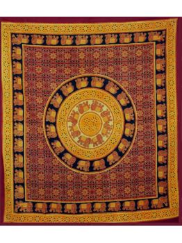 Elephant Mandala Tapestry Wall Hanging Hippie Tapestries Ethnic Decor