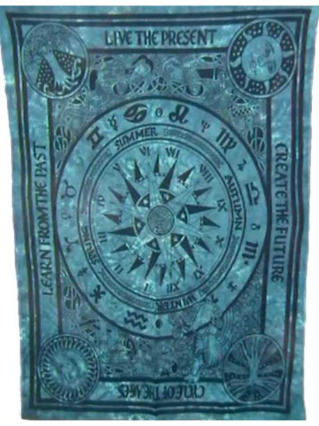 Life Cycle Indian Tapestry Wall Hanging