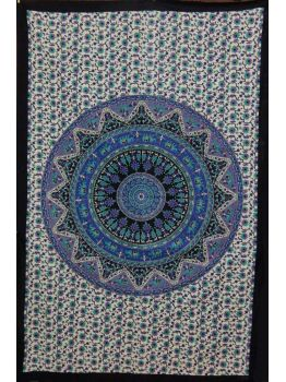 Mandala Tapestries Wall Hanging Cotton Bedspread Ethnic Decor