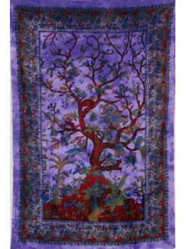 Tree of Life Hippie Wall Hanging Throw Tapestry Ethnic Bedspread