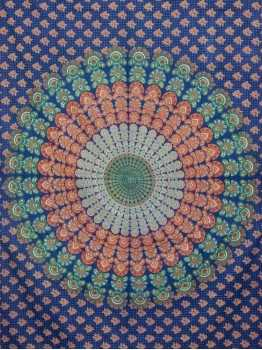 Blue Mandala Hippie Wall Hanging Tapestry Beach Throw Bedspread