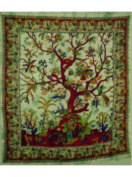 Tree of Life Tapestry Vintage Inspired