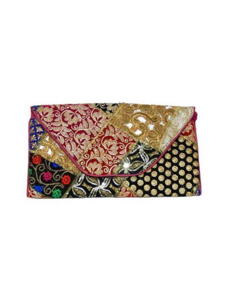 Handmade Clutch Bag Indian Purse Embroidered Ethnic Clutch Multicolor Handbag