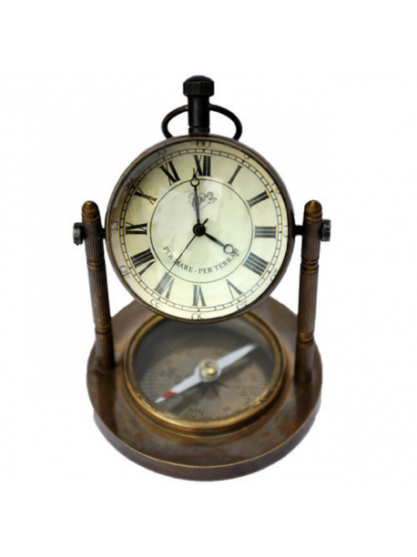 Vintage Lover Clock with Compass