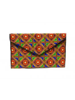 Handmade Clutch Indian Purse Embroidered Ethnic Clutch Multicolor Handbag Bag