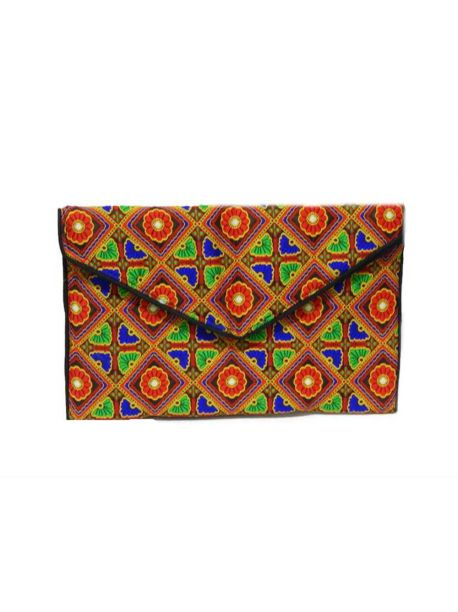 Handmade Clutch Bag Indian Purse Embroidered Ethnic Clutch Multicolor Handbag