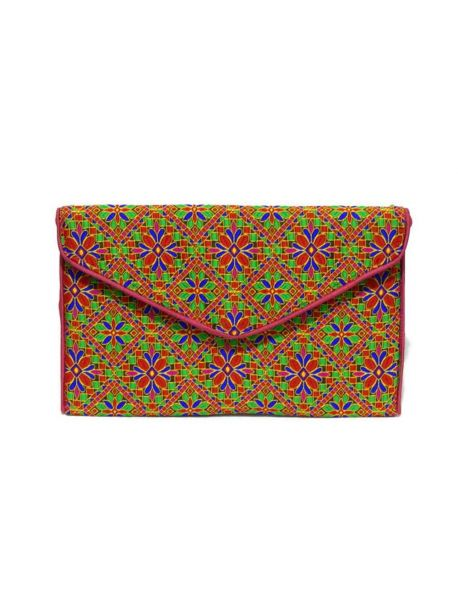 Handmade Cotton Clutch Bag Style Purse Indian Clutch Embroidered Multicolor Handbag