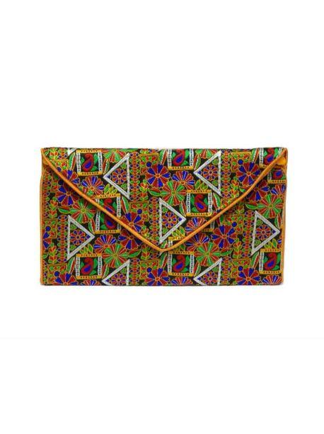 Handmade Evening  Clutches Indian Embroidered Purse Elegant Women Handbag