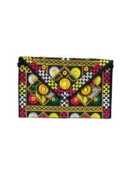 Handmade Evening Clutch Vintage Indian Multicolor Handbag Embroidered Women Purse Bags