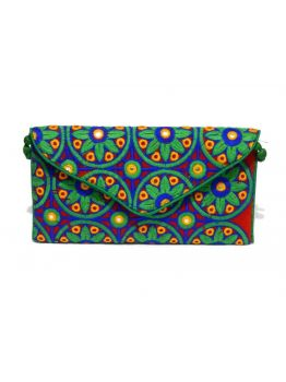 Handmade Multi Colored Gift Vintage Handbag Indian Purse Multicolor Wedding Style Bag