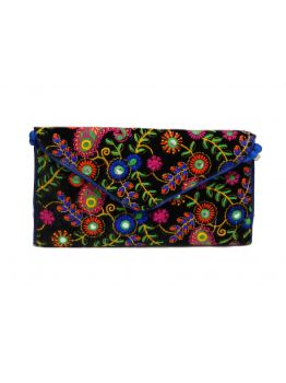 Handmade Multi Coloured Vintage Bag Wedding Indian Embroidered Antique Purse Clutch Handbags