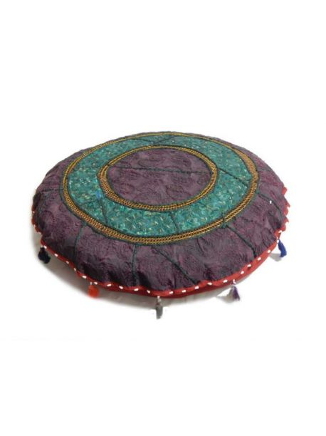 Handmade Cushion Cover Vintage Embroidered Foot Stole Pouf Pouffe